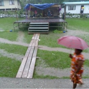 John Hunt's 200 Years Party - a wash out in Fiji.